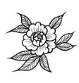 tattoo rose flower art vector image vector image