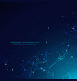 technology digital particles background in blue vector image