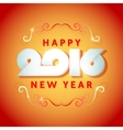 Text design of happy new year 2016 vector image