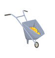 trolley with gold ore mining industry concept vector image