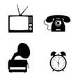 tv and gramophone set icon vector image