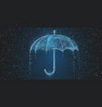 umbrella rain drops protection season vector image vector image