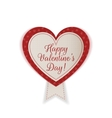 Valentines Day realistic textile Heart Emblem vector image vector image