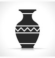 vase icon on white background vector image vector image