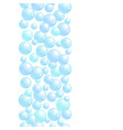 vertical decorative line with soap bubbles vector image vector image