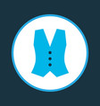 vest icon colored symbol premium quality isolated vector image