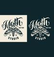vintage tattoo studio badge vector image vector image