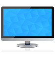 widescreen flat panel monitor with geometric vector image vector image