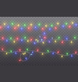 xmas color garland festive decorations glowing vector image vector image