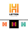 unusual geometric letter h architecture vector image