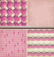 4 geometric patterns set vector image vector image