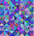 Abstract colorful triangle background design vector image