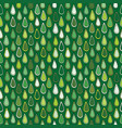 abstract green leaves seamless background vector image