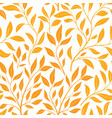 autumn leaves seamless pattern leaf icon set in vector image