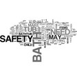 bath safety text word cloud concept vector image vector image
