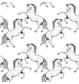black rearing horse seamless pattern a vector image vector image