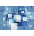 Blue corporate geometry background with squares vector image vector image