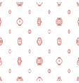 bracelet icons pattern seamless white background vector image vector image