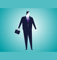 businessman with bag isolated background vector image