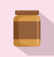 butter jar icon flat style vector image