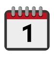 calendar day flat icon vector image