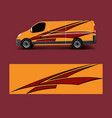 cargo van decal with green wave shapes truck and vector image