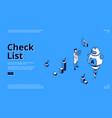 check list online survey isometric web banner vector image vector image