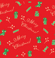 christmas red seamless pattern background vector image vector image