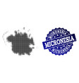 composition of halftone dotted map of micronesia vector image vector image