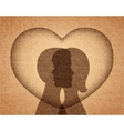 couple in love silhouettes vector image