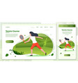 cross platform playing tennis vector image vector image