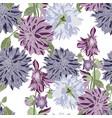 dahlia seamless pattern vintage violet dahlia vector image vector image