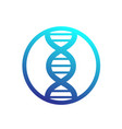 dna strand icon in circle vector image