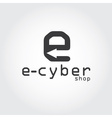 e cyber shop vector image