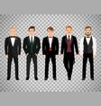 fashion business men on transparent background vector image