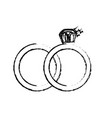 figure wedding ring to symbolic the love vector image
