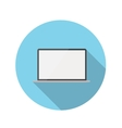 Flat Design Concept Laptop Icon With Long Sh vector image vector image
