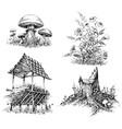 forest design elements vector image vector image