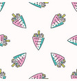 fun memphis strawberry pattern seamless vector image