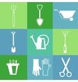 Gardening tools icon set vector image