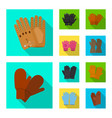 glove and winter sign vector image