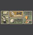 golf school champion sport tournament posters vector image vector image