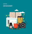 graphic designer flat style design vector image vector image