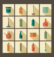 icons of accessories and means for cleaning vector image vector image