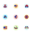 independence day usa icons set pop-art style vector image