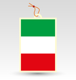 italy tag vector image vector image