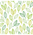 Line art leaf pattern vector image