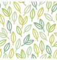 Line art leaf pattern vector image vector image