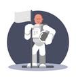 man cosmonaut standing vector image vector image