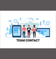 mix race people brainstorming teamwork strategy vector image